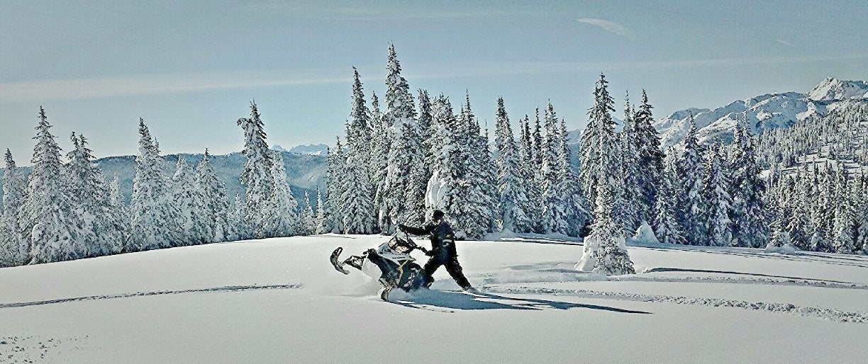 Snowmobiling in Princeton BC