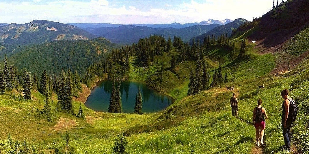 Hiking the trails in Princeton BC
