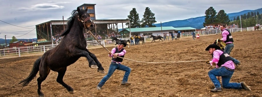 The excitement at the Princeton, BC Rodeo