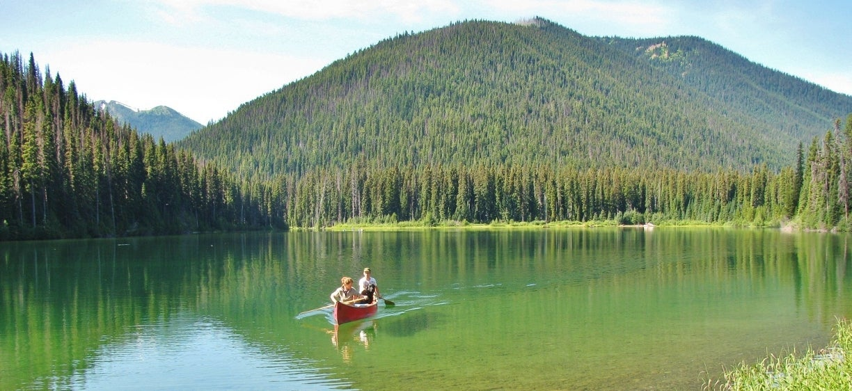 Canoeing at Manning Provincial Park