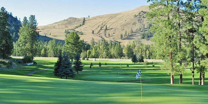 The green of the golf course in Princeton BC